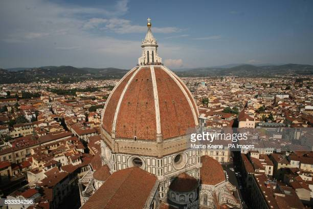 The dome on the cathedral in Florence