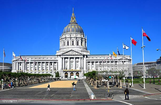 The domed San Francisco City Hall built in the BeauArts architectural style was completed in 1915