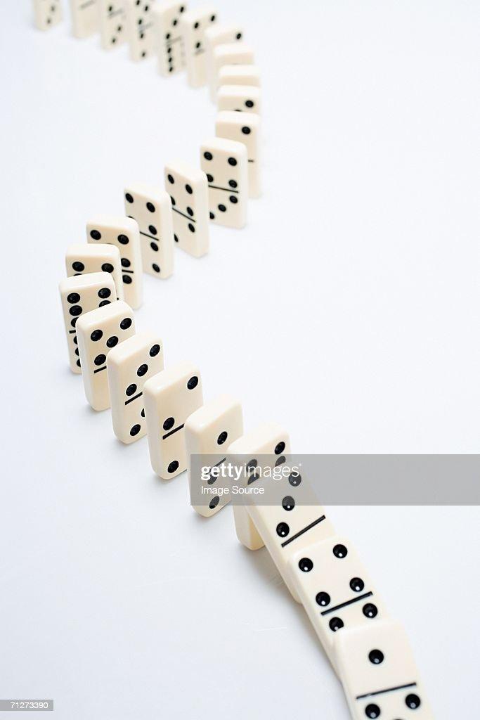 The domino effect : Stock Photo