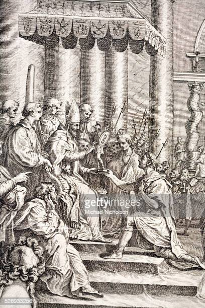 The Donation of Constantine A major forgery which was probably made between 750 and 850 The forgery shows the Roman Emperor Constantine the Great...