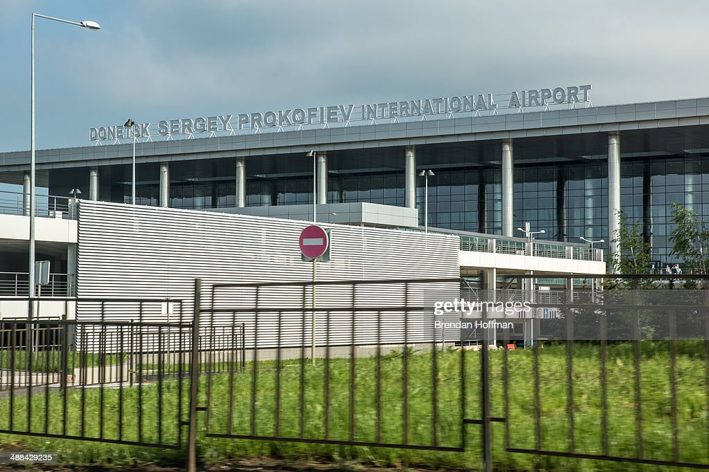 The Donetsk Sergey Prokofiev airport where all flights cancelled after reportedly receiving orders from the government is seen on May 6 2014 in...
