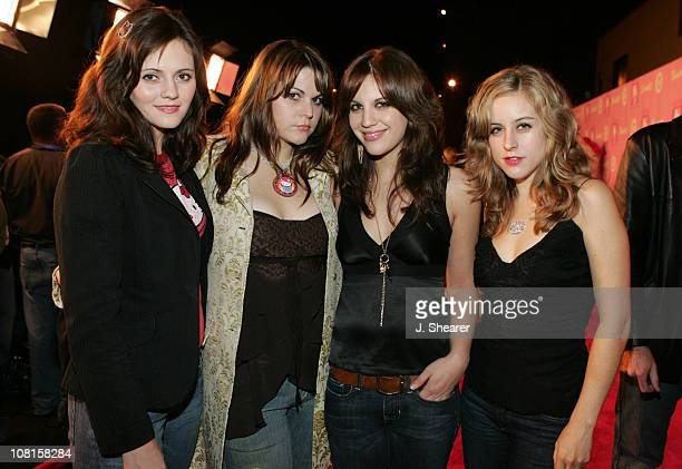The Donnas Brett Anderson Maya Ford Allison Robertson and Torry Castellano
