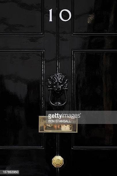 The door of 10 Downing Street is pictured in central London on April 6 2010 Britain will vote in a general election on May 6 Prime Minister Gordon...