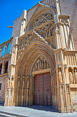 The Door of Apostles. Cathedral of Valencia, Spain.