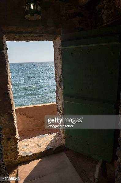 The door of no return in one of the slave houses on Goree Island in the Atlantic Ocean outside of Dakar in Senegal West Africa
