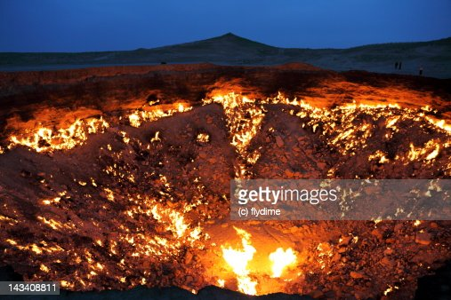 The Door to Hell, Gas Crater / Turkmenistan, fire