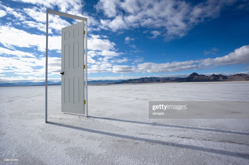 The Door to Nowhere : Stock Photo