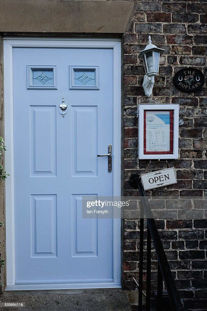 The door to the post office in the village of Kirby Misperton on May 24, 2016 in Malton, England. North Yorkshire Planning and Regulatory Committee voted seven to four in favour of a planning application submitted by Third Energy to conduct fracking at the KM8 drilling site near the village. Hydraulic Fracturing, or fracking, is a technique designed to recover gas and oil from shale rock.