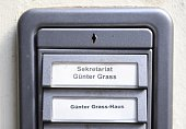 The doorbell to the GuenterGrassHaus dedicated to Germany's Nobelwinning author Guenter Grass is pictued at the Guenter Grass House in Luebeck...