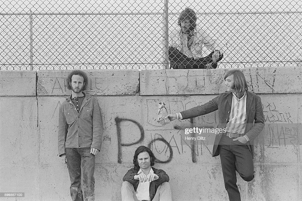 Robbie Krieger, Jim Morrison, John Densmore, and Ray Manzarek.