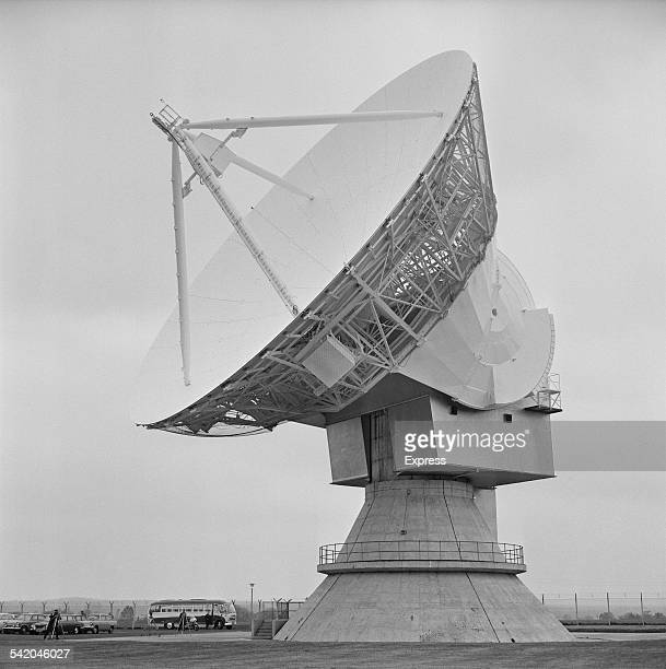 The Doppler weather radar with 25 metre antenna at Chilbolton Observatory Hampshire England13th April 1967