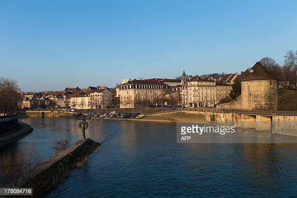 The Doubs river is pictured on February 20 2013 in Besancon eastern France AFP PHOTO / PATRICE COPPEE