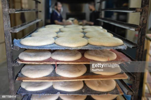 The dough to make bread inside a traditional bakery a small family business in Fes Medina A scene from a daily life in Fes during the Ramadan 2017 On...