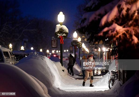 The downtown area is scenic and idyllic with the freshly fallen snow on January 11 2017 in Crested Butte Colorado Downtown Crested Butte has been...