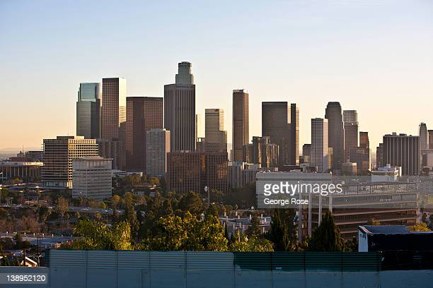 The downtown skyline is viewed from above Figueroa Terrace near Dodger Stadium on January 27 2012 in Los Angeles California Over the past 20 years...