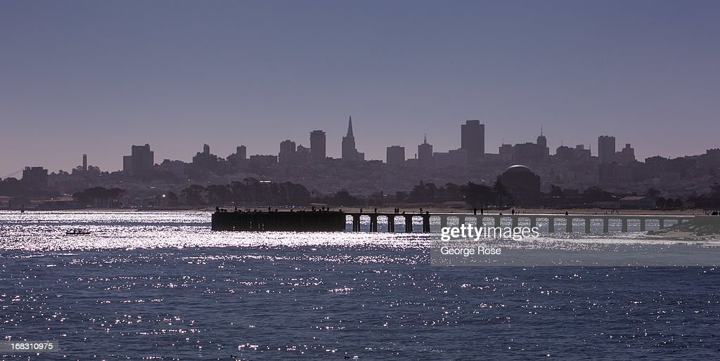 The downtown skyline is visible from the Golden Gate Bridge on April 14, 2013, in San Francisco, California. Some 13.6 million international travelers visit the California each year generating nearly $100 billion in revenue and creating approximately 900,000 jobs in the arts, entertainment, recreation, food service and accomodations sectors.