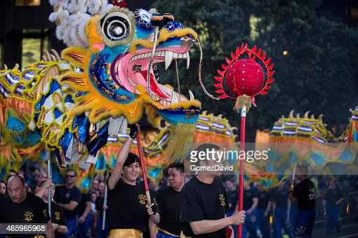 The Dragon Dance Float in Chinese New Year Parade