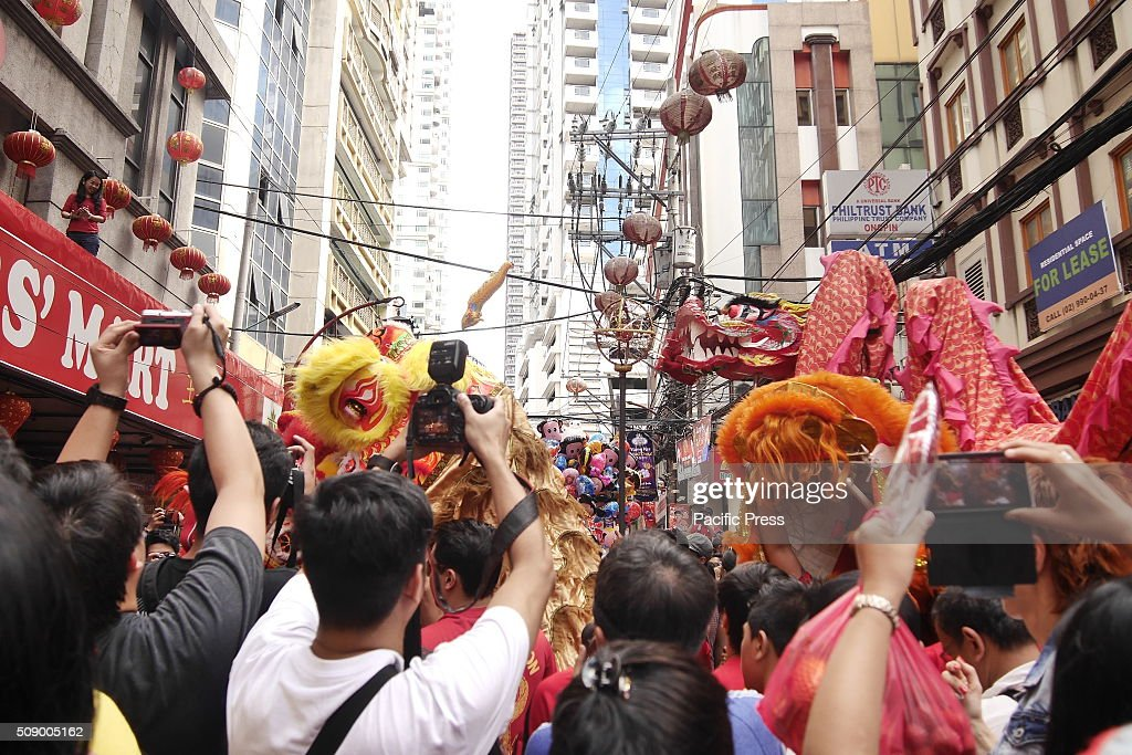 The dragon dance parade during the Chinese New Year 2016 celebration. Dragon Dance parade brings luck for the year according to the Chinese belief and it was also the most awaited performance by everyone during the celebration.