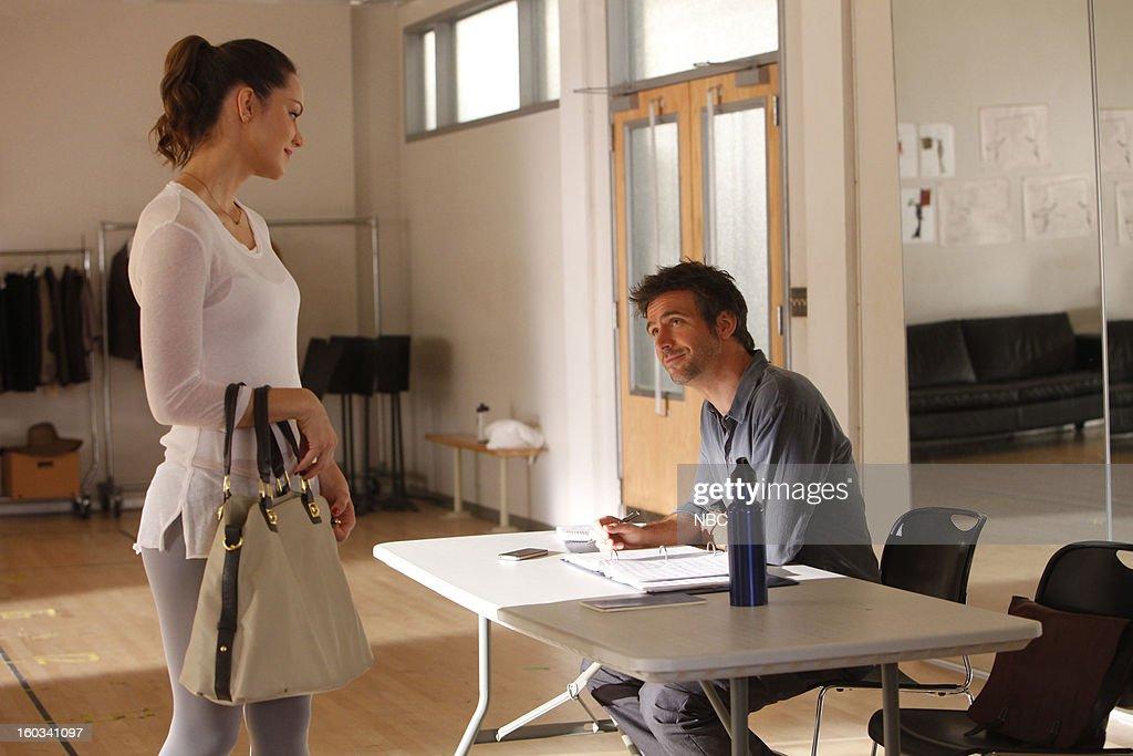 SMASH -- 'The Dramaturg' Episode 203 -- Pictured: (l-r) Katharine McPhee as Karen Cartwright, Jack Davenport as Derek Wills --