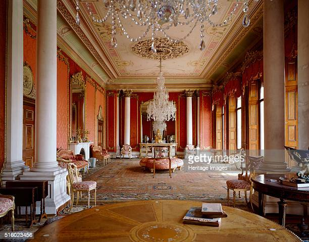 The drawing room Brodsworth Hall South Yorkshire c2000s Brodsworth was designed for Charles Thellusson by the Italian architect Chevalier Casentini...