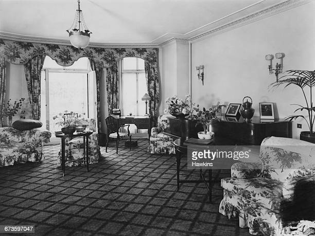 The drawing room of a private suite at the Hyde Park Hotel in Knightsbridge London 22nd April 1925