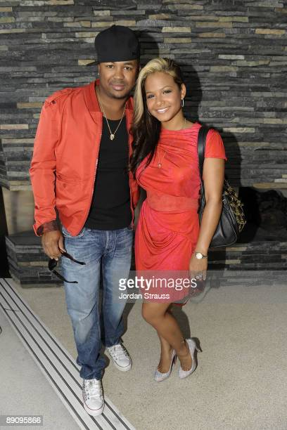 The Dream and Christina Milian attend Big Billy Clark's Annual Debauchery Birthday Pool Party at a private residence on July 18 2009 in Los Angeles...