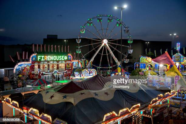 The Dreamland Amusements carnival stands in the parking lot of the Marley Station Mall in Glen Burnie Maryland US on Sunday April 30 2017 As mall...