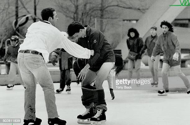 The dress code may be casual for a Sunday afternoon's skate on the ice at Nathan Phillips Square casual but not negligent Once skater too busy...