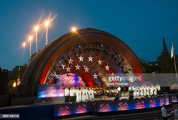 The dress rehearsal for the July 4th celebration with the Boston Pops conducted by Keith Lockhart with the Tangewood Festival Chorus at the Hatch...