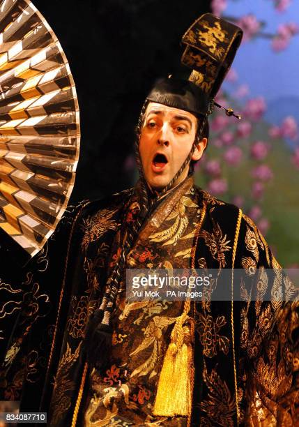 The dress rehearsal for The Mikado with Alistair McGowan as The Mikado of Japan at The Gielgud Theatre in central London