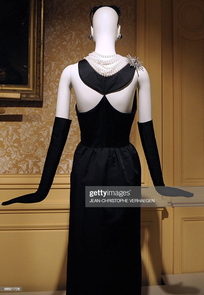 The dress worn by Audrey Hepburn in 'Breakfast at Tiffany's and designed by Hubert de Givenchy is on show at the Chateau d'Haroue on May 5 2010 The...
