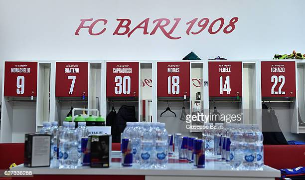 The dressing room of AS Bari prior the Serie B match between AS Bari and US Salernitana FC at Stadio San Nicola on December 3 2016 in Bari Italy