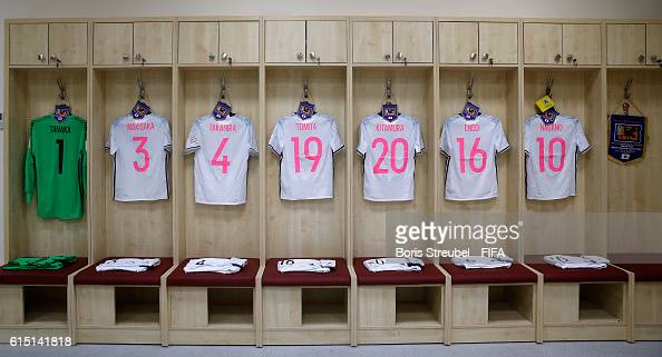 The dressing room of Japan is pictured prior to the FIFA U17 Women's World Cup Semi Final match between Spain and Japan at King Abdullah II...