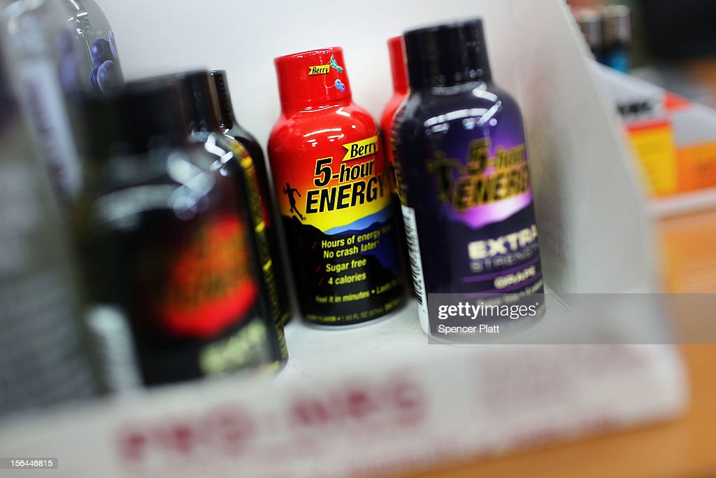 The drink 5-Hour Energy is displayed at a grocery store on November 15, 2012 in New York City. The federal government and the New York Attorney General's office have announced that they are investigating the popular energy drink after the Food and Drug Administration received claims that 5-Hour Energy has over the past four years led to 13 deaths and 33 hospitalizations.