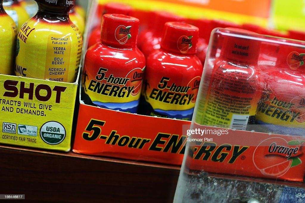 The drink 5-Hour Energy is viewed for sale at a grocery store on November 15, 2012 in New York City. The federal government and the New York Attorney General's office have announced that they are investigating the popular energy drink after the Food and Drug Administration received claims that 5-Hour Energy has over the past four years led to 13 deaths and 33 hospitalizations.