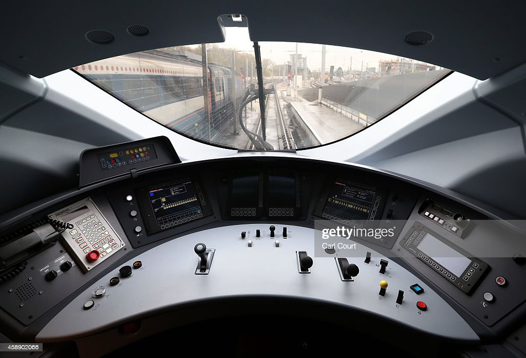 The drivers compartment of Eurostar's new e320 train is pictured at St Pancras Station on November 13 2014 in London England Launched today the...