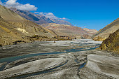 the dry high desert area of Mustang in the Annapur