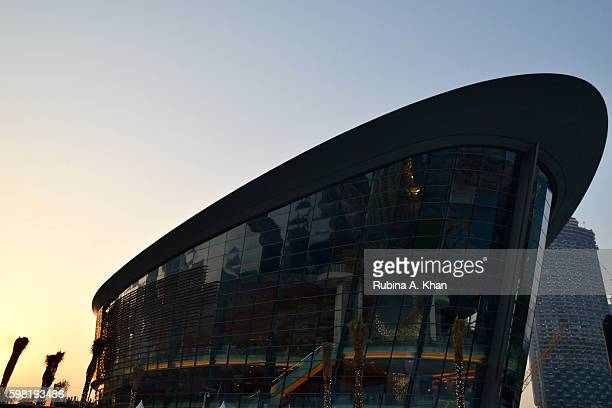 The Dubai Opera designed in the shape of a dhow an ode to Dubai's maritime history by Janus Rostock on opening night on August 31 2016 in Dubai...