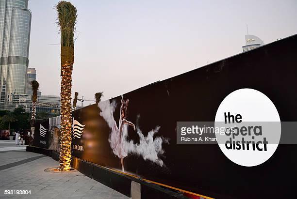 The Dubai Opera District on opening night on August 31 2016 in Dubai United Arab Emirates