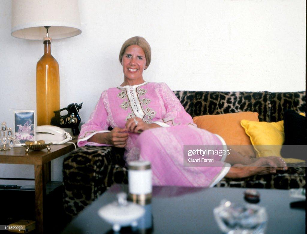The Duchess Cayetana of Alba in the 'Finca de Canas' 11th September 1973 Marbella Malaga Spain