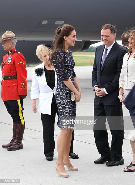 The Duchess Of Cambridge Arrive At Ottawa MacdonaldCartier International AirportDuring Their Official Royal Visit To Canada