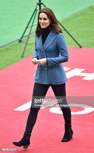 The Duchess of Cambridge at West Ham UnitedOtildes London Stadium as she attends the graduation ceremony for more than 150 Coach Core apprentices