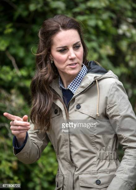 The Duchess of Cambridge during a visit to a 'Farms for Children' farm on May 3 2017 in Arlingham Gloucestershire The Duchess of Cambridge visited...