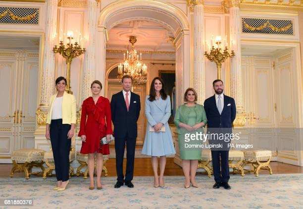 The Duchess of Cambridge joins the Grand Duke and Grand Duchess of Luxembourg the Hereditary Grand Duke and Duchess and Princess Alexandra for a...