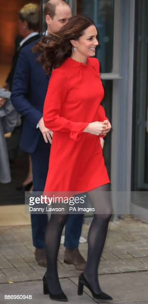 The Duchess of Cambridge leaves after attending the Children's Global Media Summit at Manchester Central Convention Complex which brings together...
