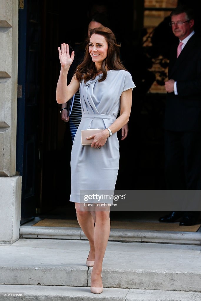 The Duchess Of Cambridge leaving a lunch in Support of the Anna Freud Centre����on May 4, 2016 in London, England.