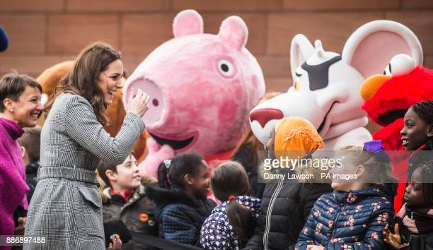 The Duchess of Cambridge meets wellwishers as she arrives for the Children's Global Media Summit at Manchester Central Convention Complex which...