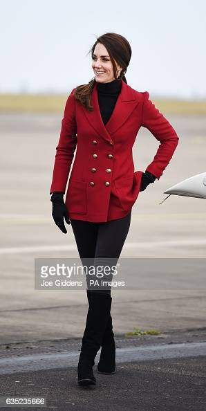 Duchess of Cambridge visit to RAF Wittering : News Photo