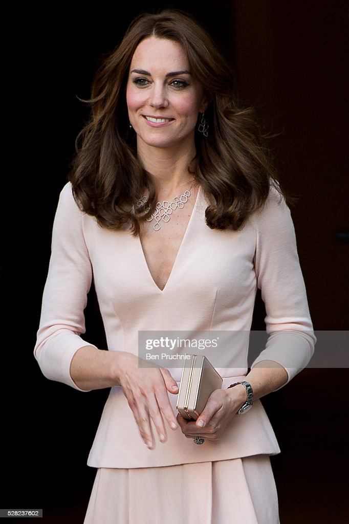 The Duchess of Cambridge visits the 'Vogue 100: A Century Of Style' exhibition at National Portrait Gallery on May 4, 2016 in London, England. The Duchess appears on the cover of the centenary issue of Vogue in June 2016.