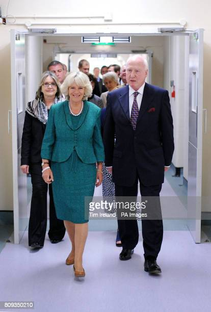 The Duchess of Cornwall arrives at at Ynys Saff Cardiff and Vale Sexual Assault Referral Centre accompanied by Lord Lieutenant of South Glamorgan...